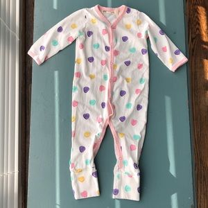 Monica + Andy sweet hearts romper, size 3-6 months